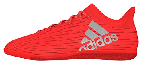 adidas X 16.3 In, Chaussures de Foot Homme Rouge (Solar Red/Silver Metallic/Hi-Reset Red)