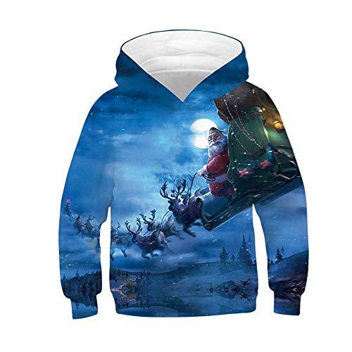a69c3797914a9 Acheter Sunenjoy Bébé Garçons Filles Noël Sweat-Shirt à Capuche Pull Manche  Longue Chemisier Imprimé en 3D Haut Épaissir Chaud Top Fête Mignonne Mode  Sport ...