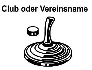 Generic Eisstock Aufkleber mit Club Name 10cm oder 15cm Eisstockschiessen...