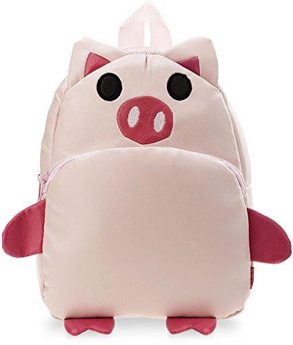 kleiner Kinder- Rucksack Kindergartentasche Ausflug Freizeittasche Tier – Zoo - Motiv (Schweinchen)