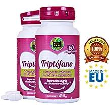 Triptófano para ayudar a conciliar un sueño profundo y controlar el estado de ánimo - Suplemento alimenticio de triptófano con magnesio, melatonina y vitaminas B6, B5 y B3 - 60 comprimidos