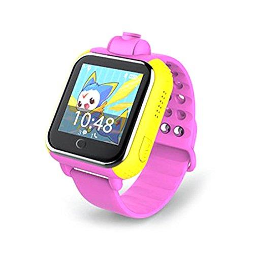 Preisvergleich Produktbild Joyeer Smart Watch Kinder Armbanduhr 3G GPRS GPS Locator Tracker Anti-Lost Smartwatch mit SIM SOS WIFI Babyuhr mit Kamera für IOS Android , pink