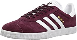 Adidas Gazelle, Basses Homme - Rouge - Maroon/White/Metallic/Gold,