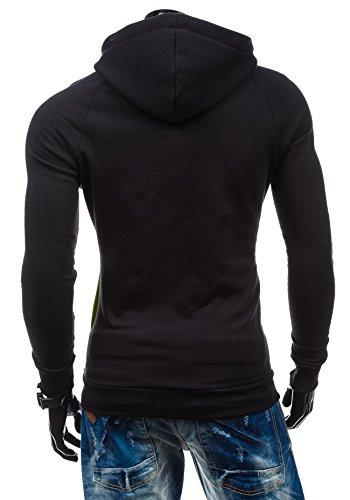 BOLF – Sweat-shirt à capuche – Pull de sport - STX JACK – Homme Vert