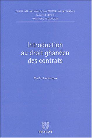 Introduction du droit ghanéen des contrats