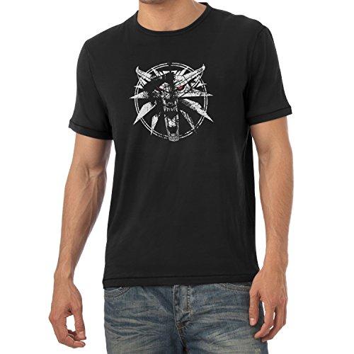 TEXLAB - Hexer Logo - Herren T-Shirt, Größe L, (Geralt Cosplay Kostüm)