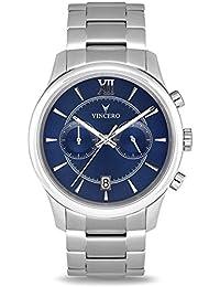 cd81919bf16 Montre-bracelet de luxe Vincero pour homme - Cadran bleu avec bracelet en  acier inoxydable