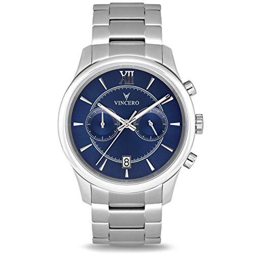 Vincero Luxury Orologio da uomo da polso di tendenza - Quadrante blu con...