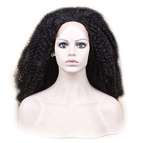 SHKY kinky Lace Front Perücke Hochtemperatur Hitze resistente Haare natürliche Perücke für schwarze Frauen African American , 24
