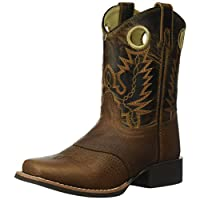 Smoky Mountain Kids Luke Square Toe Boots 3.5 Brown