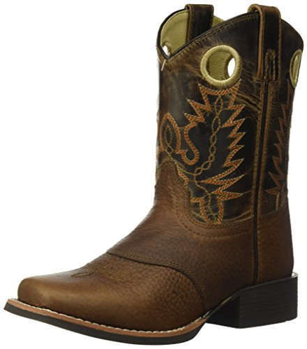 Smoky Mountain Children Luke Square Toe Western Cowboy Boots Brown
