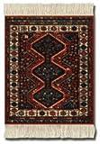 Coaster Rugs MSF-C Asian Collection - Posavasos alfombrilla, diseño de alfombra tradicional, pack de 4