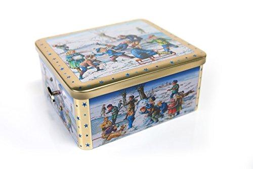 Spieluhr-Dose mit original Nürnberger Elisen Lebkuchen und Konfekt (1 x ca.750g)