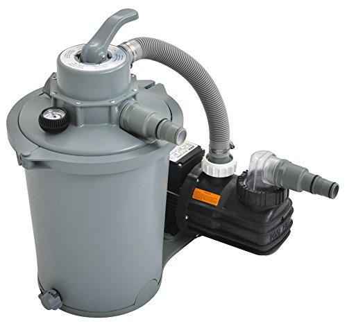 Jilong 290732EU Filtre à sable pour piscine 6 800 l/h, 30 x 35 x 60 cm, gris