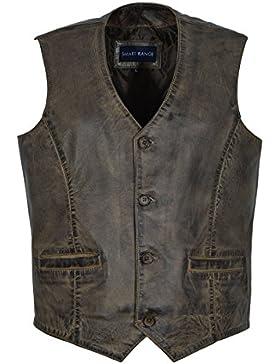 Nuevo 5226 Party Fashion Style Dirty Brown Real genuino clásico Diseñador Real Soft piel de cordero Chalecos de...