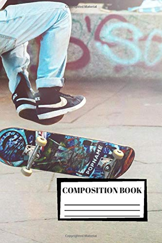 Composition Book: Skateboard   Composition Notebook   100 Wide Ruled Pages   Journal   Diary   Note di Caro Notebooks