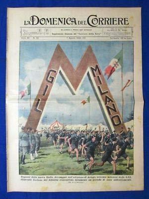 La Domenica del Corriere 7 agosto 1938 Asiago - Princetown - Giro di Francia