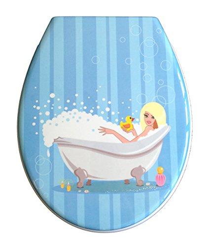 ADOB Duroplast WC Sitz Klobrille Modell Badewanne mit Absenkautomatik zur Reinigung abnehmbar, 59882