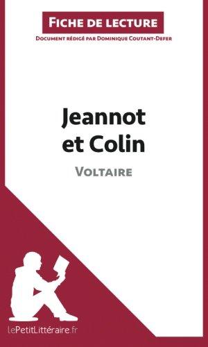 Jeannot et Colin de Voltaire (Fiche de lecture): Résumé complet et analyse détaillée de l'oeuvre
