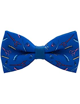 Bow Tie House Hipster Barber Shop bow tie pre-tied unisex in many patterns