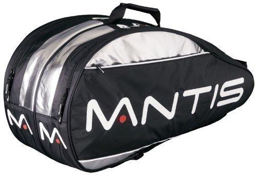 Mantis Thermo-Tasche für 6 Squashschläger, Nylon mehrfarbig - schwarz/silber