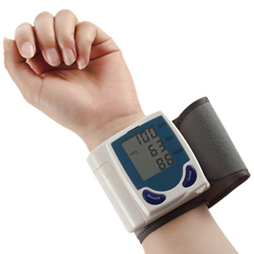 Cartshopper Wrist Blood Pressure Cuff Wrist Monitor Automatic Di gital Sphygmomanometer - BP Machine Measures Pulse, Diastolic and Systolic High Accurate Meter Best Reading High Normal and Low
