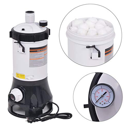 VidaXL Pool Bomba de filtro para piscina intex Bestway 4,4m³/h bomba de filtro Pool Filtro