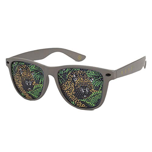 Neff Unisex Daily Lens Print Shades Sunglasses Olive Tiger Gray