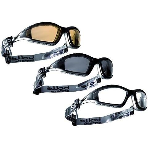 BOLLE TRACKER II gafas de seguridad transparente, humo y amarillo bolsa de microfibra