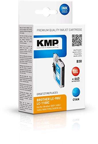 KMP Tintenkartusche für Brother DCP-145/165C, B30, cyan