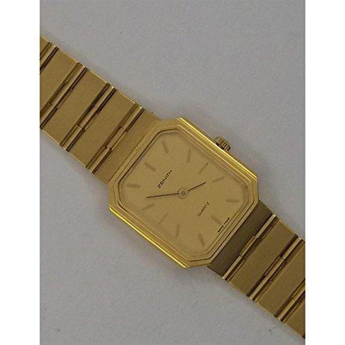 Orologio Zenith oro or817 Al quarzo (batteria) Oro Quandrante Giallo Cinturino Oro
