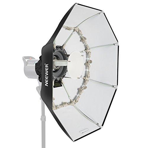 Neewer Beauty Dish Achteckige Softbox 100 Zentimeter, mit mittlerer Deflektorscheibe, herausnehmbarem Diffusor und Bowens Speed Ring für Monolight Studioblitz in Portrait und Event Fotografie