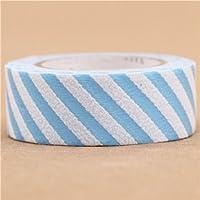 blue-white striped mt fab Washi Masking Tape deco tape flock print