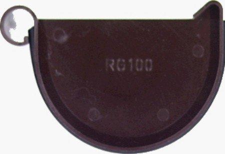 Preisvergleich Produktbild MARLEY Endstück halbrund RG 75,  braun