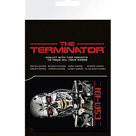 Set: Terminator, Endoskeleton Porta Carte Di Credito (10x7 cm) E 1 Sticker Sorpresa 1art1®