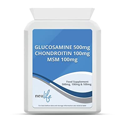 Glucosamine 500mg, Chondroitin 100mg & MSM 100mg - 120 Tablets by Neulife Health & Fitness Supplements