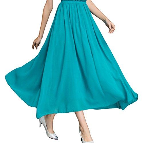 La Vogue Robe Longue Empire Mousseline Dentelle Élégance Cérémonie Soirée Turquoise