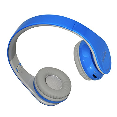 Beyution New Blue color Over-ear-- HiFi Stereo-- Bluetooth Headphones Headset--With Retail Package
