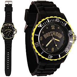 Dortmund City Silicone Wristwatch 260Bracelet Watch in Black/Yellow/NEW