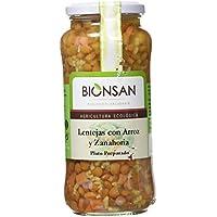 Bionsan Lentejas con Arroz Integral y Zanahoria - 4 Paquetes de 400 gr - Total: 1600 gr
