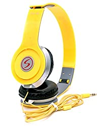 Signature Brand High Quality VM-46 Stereo BassSolo Headphonesfor Iphone,Samsung,Redmi and all other smartphones (Yellow Colour)