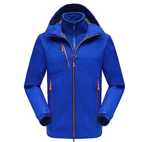 Jacke Winter Warme, wasserdichte Fleecejacke Outdoor-Ski Eislauf-Hoodie Zweiteiliger, Warmer, atmungsaktiver Jackenanzug,D,XXL