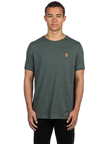Naketano Male T-Shirt Italienischer Hengst Anthracite Melange, dark olive melange - X-Large