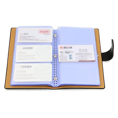 Sumnacon 240 Capacité Organisateur /Porte- Carte de Visite, Porte-Carte Commercial, étui Pour Business (Noir)