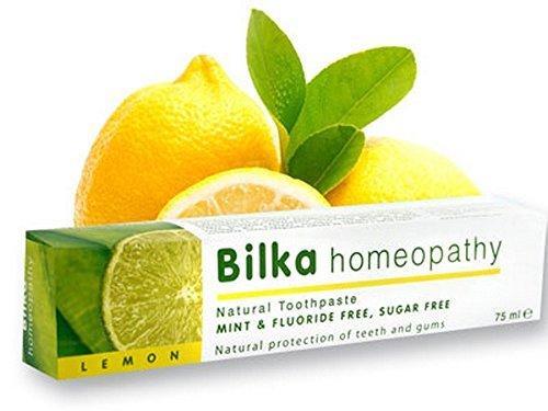 La homeopatía Bilka, pasta de dientes homeopática con xilitol, sabor a limón,...
