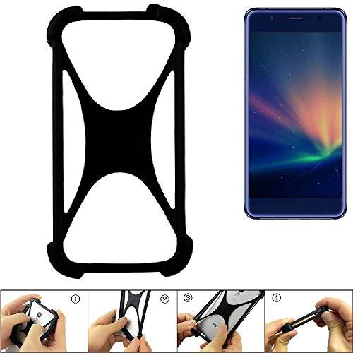 K-S-Trade Handyhülle für Hisense A2 Pro Schutz Hülle Silikon Bumper Cover Case Silikoncase TPU Softcase Schutzhülle Smartphone Stoßschutz, schwarz (1x)