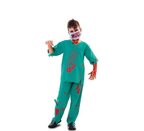 Imagen de disfraz de médico zombie para niño