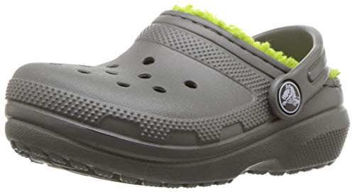 crocs Classic Lined Clog K Slate Grey/Volt Green Clogs