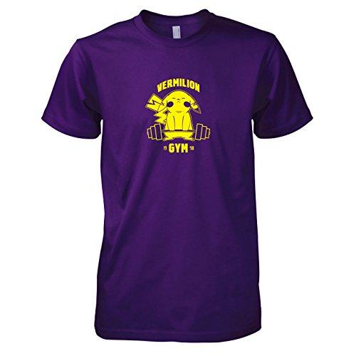 Herren T-Shirt, Größe XXL, violett (Pokemon Alpha Saphir Pikachu Kostüme)