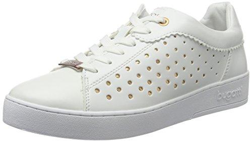 bugatti Damen J7605PR6N Sneaker, Weiß (Weiss/Gold 235), 40 EU